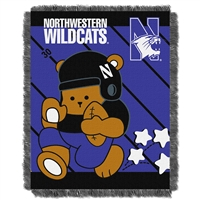 Northwestern Wildcats NCAA Triple Woven Jacquard Throw (Fullback Baby Series) (36x48)