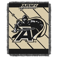 Army Black Knights NCAA Triple Woven Jacquard Throw (Fullback Baby Series) (36x48)