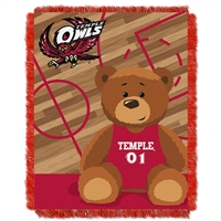 Temple Owls NCAA Triple Woven Jacquard Throw (Fullback Baby Series) (36x48)