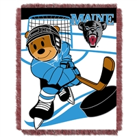 Maine Black Bears NCAA Triple Woven Jacquard Throw (Fullback Baby Series) (36x48)