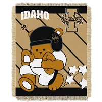 Idaho Vandals NCAA Triple Woven Jacquard Throw (Fullback Baby Series) (36x48)