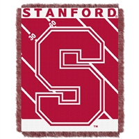 Stanford Cardinal NCAA Triple Woven Jacquard Throw (Fullback Baby Series) (36x48)