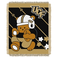 Central Florida Knights NCAA Triple Woven Jacquard Throw (Fullback Baby Series) (36x48)