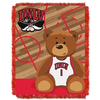 UNLV Runnin Rebels NCAA Triple Woven Jacquard Throw (Fullback Baby Series) (36x48)