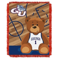 Gonzaga Bulldogs NCAA Triple Woven Jacquard Throw (Fullback Baby Series) (36x48)