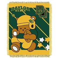 Baylor Bears NCAA Triple Woven Jacquard Throw (Fullback Baby Series) (36x48)
