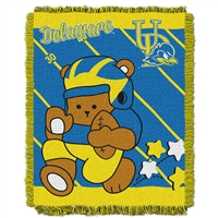 Delaware Fightin Blue Hens NCAA Triple Woven Jacquard Throw (Fullback Baby Series) (36x48)