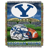 "Brigham Young Cougars NCAA Woven Tapestry Throw (Home Field Advantage) (48x60"")"""