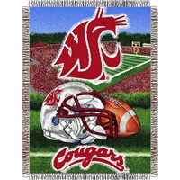 "Washington State Cougars NCAA Woven Tapestry Throw (Home Field Advantage) (48x60"")"""