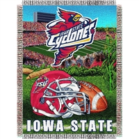 "Iowa State Cyclones NCAA Woven Tapestry Throw (Home Field Advantage) (48x60"")"""