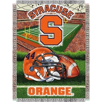 "Syracuse Orangemen NCAA Woven Tapestry Throw (Home Field Advantage) (48x60"")"""
