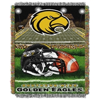 Southern Mississippi Eagles NCAA Woven Tapestry Throw (Home Field Advantage) (48x60)