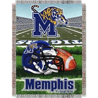 "Memphis Tigers NCAA Woven Tapestry Throw (Home Field Advantage) (48x60"")"""