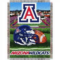 "Arizona Wildcats NCAA Woven Tapestry Throw (Home Field Advantage) (48x60"")"""