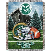 "Colorado State Rams NCAA Woven Tapestry Throw (Home Field Advantage) (48x60"")"""