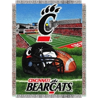 "Cincinnati Bearcats NCAA Woven Tapestry Throw (Home Field Advantage) (48x60"")"""