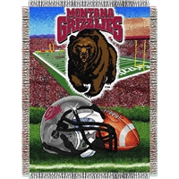 "Montana Grizzlies NCAA Woven Tapestry Throw (Home Field Advantage) (48x60"")"""