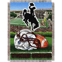 "Wyoming Cowboys NCAA Woven Tapestry Throw (Home Field Advantage) (48x60"")"""