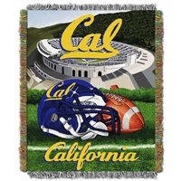Cal Golden Bears NCAA Woven Tapestry Throw (Home Field Advantage) (48x60)