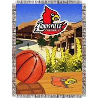 "Louisville Cardinals NCAA Woven Tapestry Throw (Home Field Advantage) (48x60"")"""