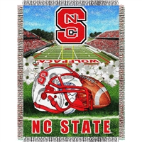 "North Carolina State Wolfpack NCAA Woven Tapestry Throw (Home Field Advantage) (48x60"")"""
