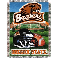 "Oregon State Beavers NCAA Woven Tapestry Throw (Home Field Advantage) (48x60"")"""