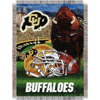 "Colorado Golden Buffaloes NCAA Woven Tapestry Throw (Home Field Advantage) (48x60"")"""