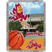 "Arizona State Sun Devils NCAA Woven Tapestry Throw (Home Field Advantage) (48x60"")"""