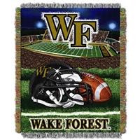 Wake Forest Demon Deacons NCAA Woven Tapestry Throw (Home Field Advantage) (48x60)