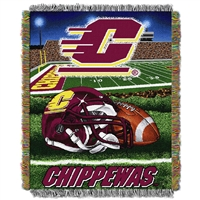 Central Michigan Chippewas NCAA Woven Tapestry Throw (Home Field Advantage) (48x60)