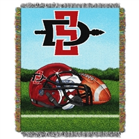 San Diego State Aztecs NCAA Woven Tapestry Throw (Home Field Advantage) (48x60)