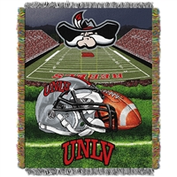 UNLV Runnin Rebels NCAA Woven Tapestry Throw (Home Field Advantage) (48x60)