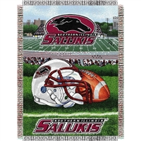 "Southern Illinois Salukis NCAA Woven Tapestry Throw (Home Field Advantage) (48x60"")"""