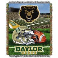 Baylor Bears NCAA Triple Woven Jacquard Throw (Home Field Advantage) (48x60)