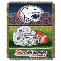 South Alabama Jaguars NCAA Woven Tapestry Throw (Home Field Advantage) (48x60)