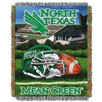 North Texas Mean Green NCAA Woven Tapestry Throw (Home Field Advantage) (48x60)