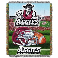 New Mexico State Aggies NCAA Triple Woven Jacquard Throw (48x60)