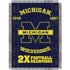 "Michigan Wolverines NCAA National Championship Commemorative Woven Tapestry Throw (48x60"")"""