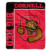 Cornell Big Red NCAA Royal Plush Raschel Blanket (School Spirit Series) (50in x 60in)