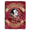 Florida State Seminoles NCAA Royal Plush Raschel Blanket (Rebel Series) (60x80)