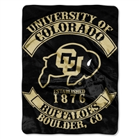 Colorado Golden Buffaloes NCAA Royal Plush Raschel Blanket (Rebel Series) (60x80)