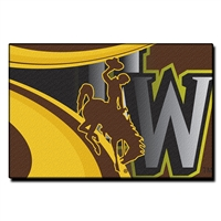 Wyoming Cowboys NCAA Tufted Rug (Cosmic Series) (59x39)