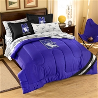 Northwestern State Demons NCAA Bed in a Bag (Contrast Series)(Full)