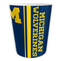 Michigan Wolverines NCAA 10 Bath Waste Basket