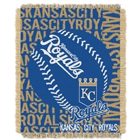 Kansas City Royals MLB Triple Woven Jacquard Throw (Double Play) (48x60)