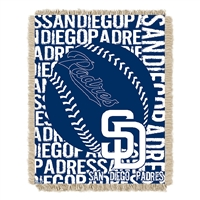 San Diego Padres MLB Triple Woven Jacquard Throw (Double Play) (48x60)