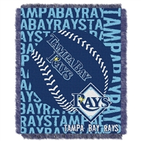 Tampa Bay Rays MLB Triple Woven Jacquard Throw (Double Play) (48x60)