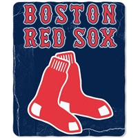"Boston Red Sox MLB Light Weight Fleece Blanket (Wicked Series) (50x60"")"""