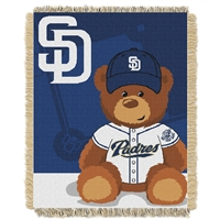San Diego Padres MLB Triple Woven Jacquard Throw (Field Baby Series) (36x48)
