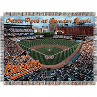 "Baltimore Orioles MLB Oriole Park at Camden Yards"" Triple Woven Throw"""